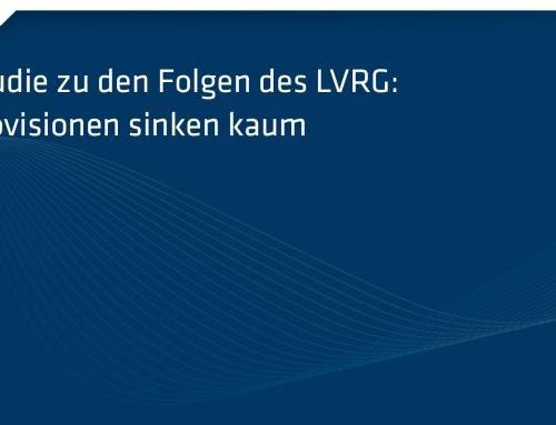 Studie zu den Folgen des LVRG: Provisionen sinken kaum