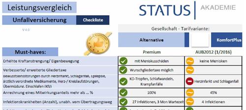 Bedingungsvergleich für Versicherungsmakler